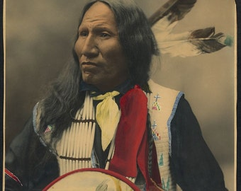 """Chief """"Strikes with Nose""""- American Indian-Native American Photo Print"""