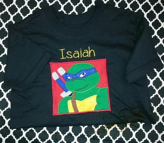 Chemise de tortue ninja avec nom - Le nom des tortue ninja ...