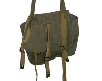 Vintage Military Khaki Bread Bag Army Bag Fishing Bag