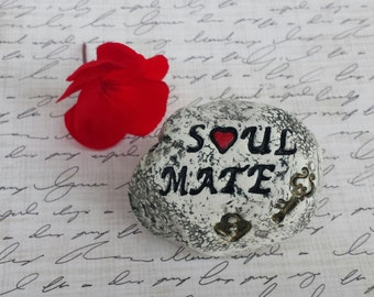 Valentine's Day Gift, soul mate key to my heart, romantic gift for him, for her, couples gift