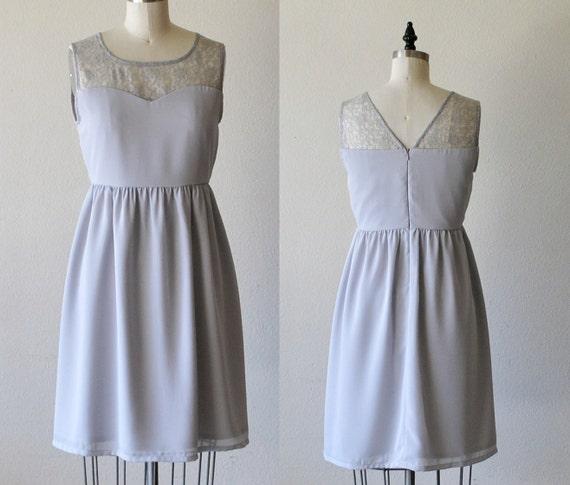 LORRAINE Grey : Grey chiffon dress lace by MfandjDesigns ...