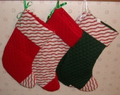 Quilted fabric Christmas stocking