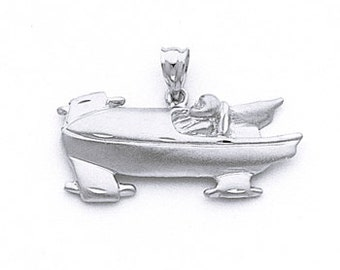 Bobsled pendant, Bobsled Charm, Silver Bobsled, Bobsled Jewelry, Winter Olympics, Bobsled