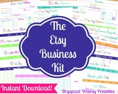 INSTANT DOWNLOAD - 22 Editable Pdf Documents-The Etsy Business Kit-Printables- For Etsy Businesses- Organization
