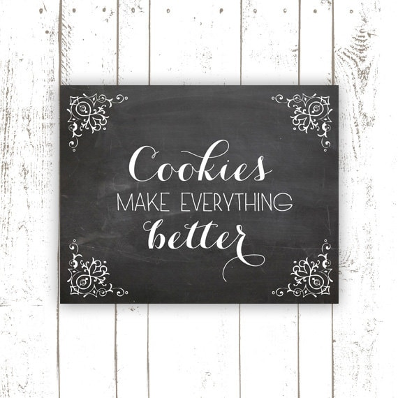 Kitchen Art Print Chalkboard Art Print By MooseberryPaperCo