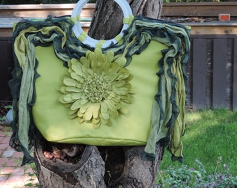 Upcycled Purse Dorth Hobo Hippy Gypsy