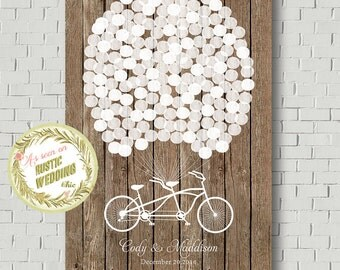 Guest Book Alternative, Wedding Guest Book Print, Personalized Gift, Wedding Gift, Faux Wood Sign In, Bridal Shower Gift, Wedding Poster