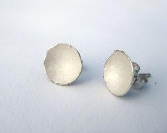 Irregular Dished Stud Earrings