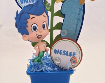 Custom Bubble Guppies Birthday Party Centerpiece Decoration