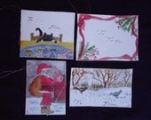 Set of four gift tags for...