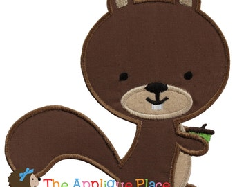 Squirrel Machine Embroidery Applique Design