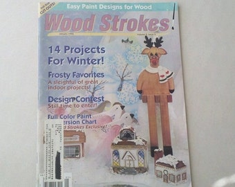 1995 Winter Wood Strokes Easy Tole Design Magazine