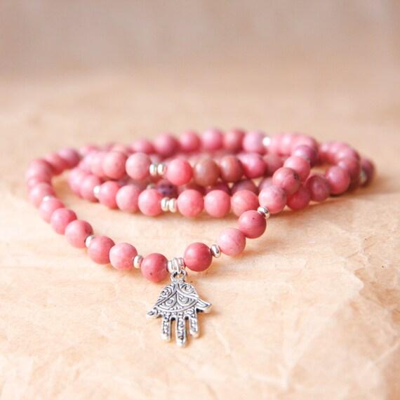Yoga Beads: 108 Mala Sterling Silver Yoga Jewelry Meditation Beads