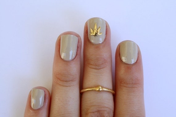 Weed nail charm - 14k Gold plated