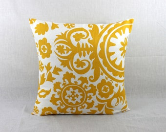 Pillow Covers 18x18 - Yellow Throw Pillow Cover - Yellow Accent Pillow Cover 0017