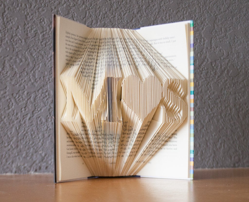 Wedding Gifts For Art Lovers : Gift- Personalized Gift for Her- Folded Book Art- Book Lovers-Wedding ...