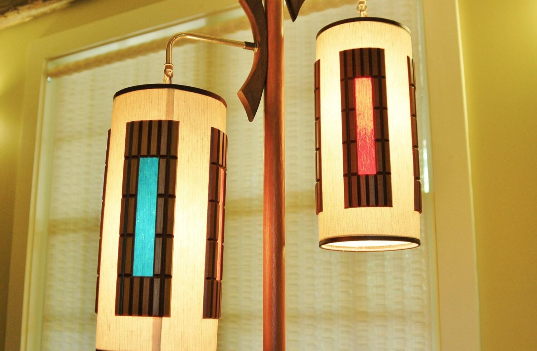 danish modern pole lamp mid century modern tension floor. Black Bedroom Furniture Sets. Home Design Ideas