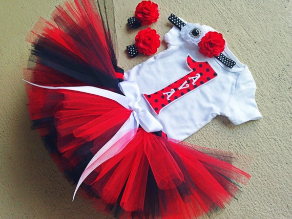 foto de Ladybug Girl 1st Birthday Outfit Red and by BabySquishyCheeks