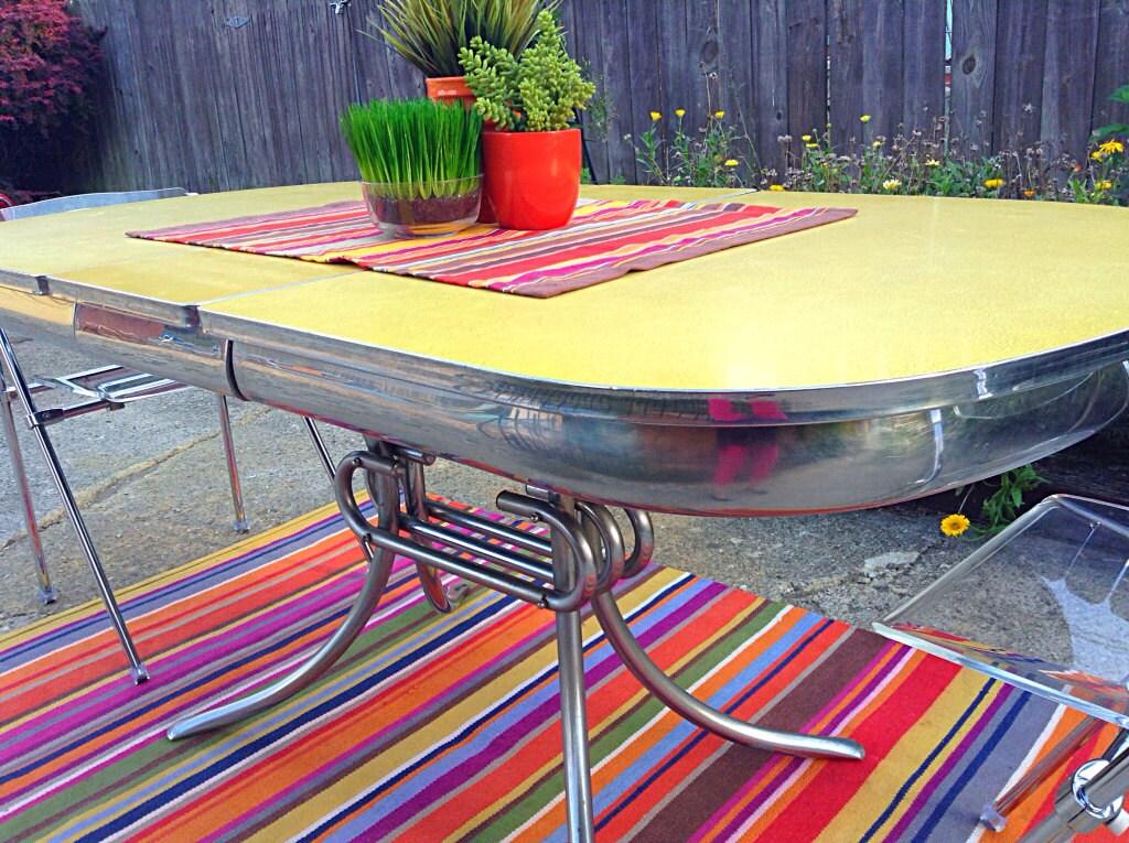 1950 s mid century yellow formica kitchen table jamie naragon