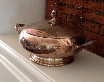 Vintage Silver Plate Casserole Dish - Wallace Silver - Casserole Bowl