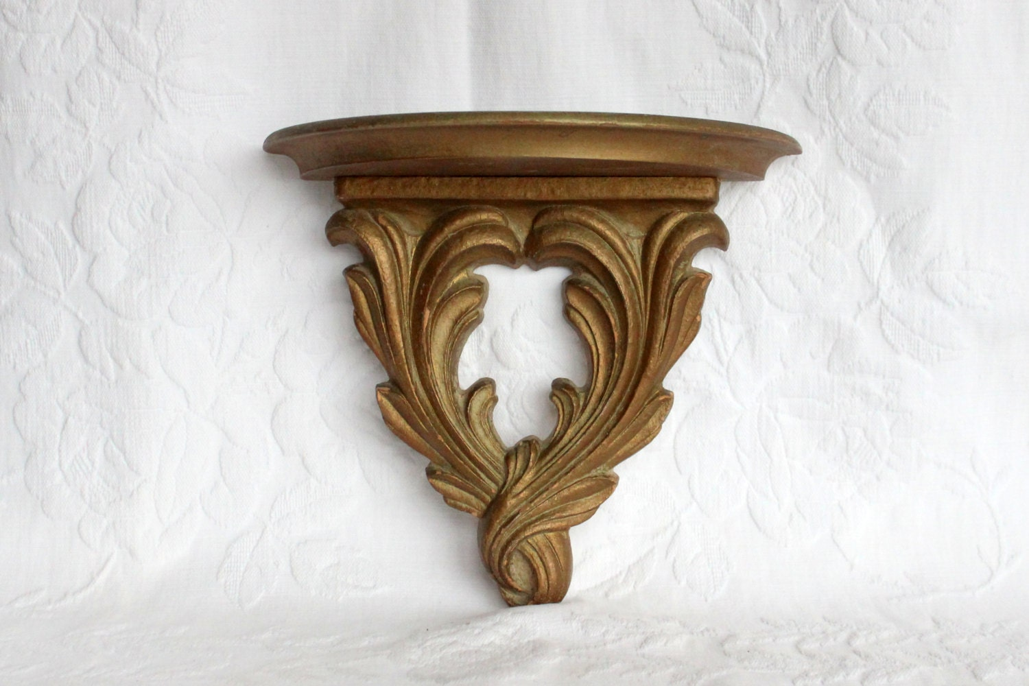 Wall Sconces Shelf : Syroco Wood Shelf Wall Sconce Plate Shelf Wall Decor