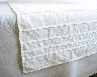 Long white linen table runner for wedding table serving/ rustic /table serving favors/ home decor/ custom size