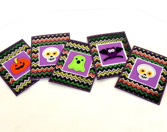 Happy Halloween Cards (Blank, set of 5, with envelopes)