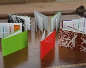 hand-bound recycled mini notebook - five pack