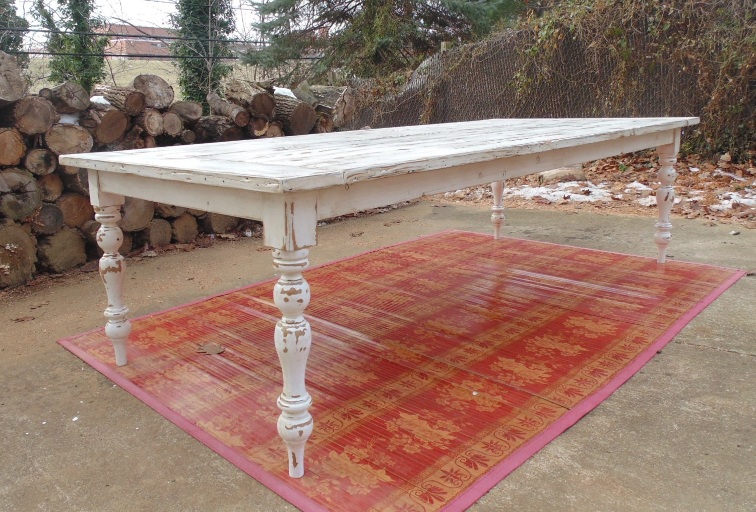 zoomDining Table Farmhouse Table French Country Table Reclaimed. Farmhouse Dining Table Made In Usa. Home Design Ideas