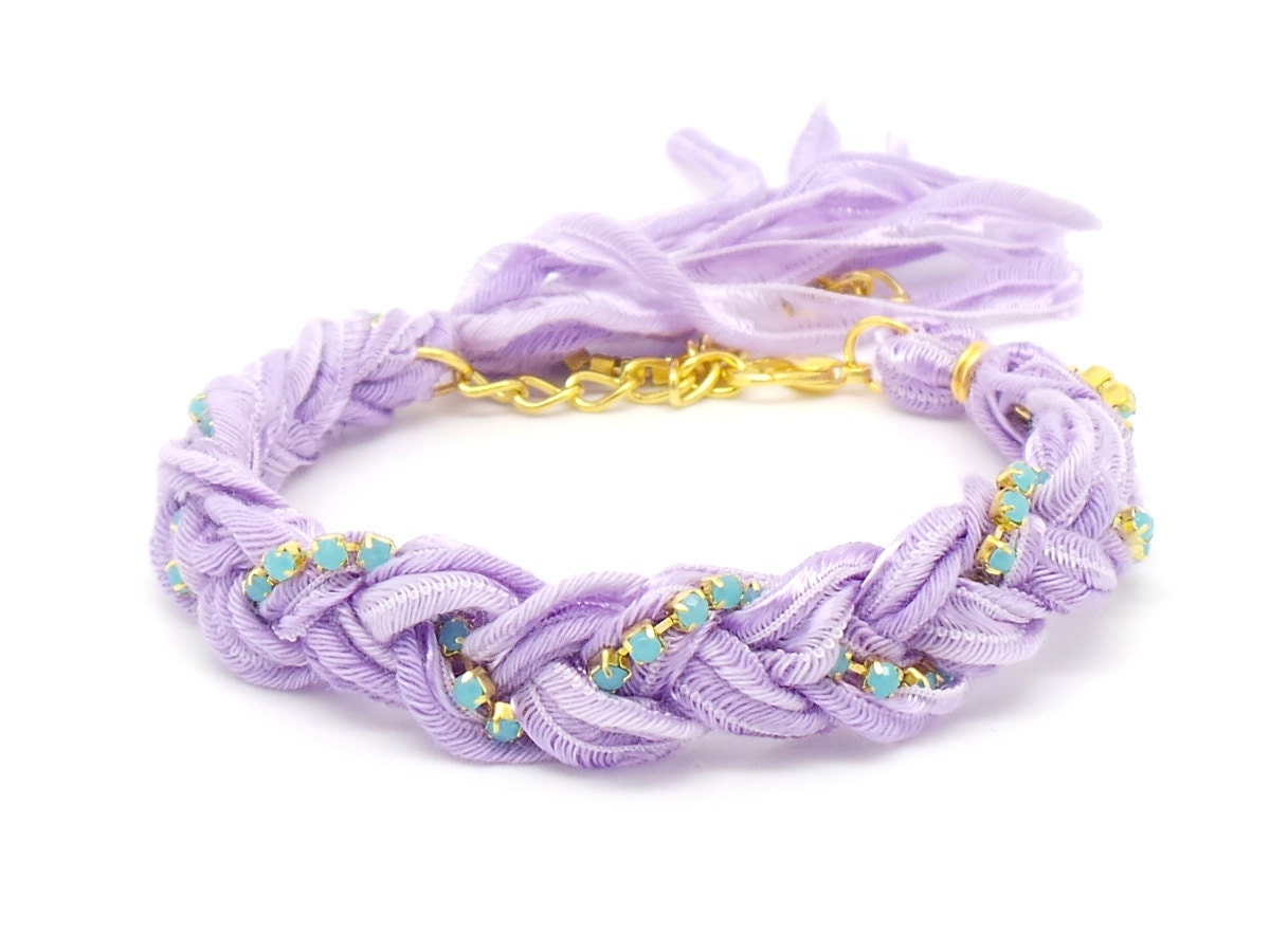 Turquoise And Pastel Purple Vintage Ribbon By Staxxdesignsllp