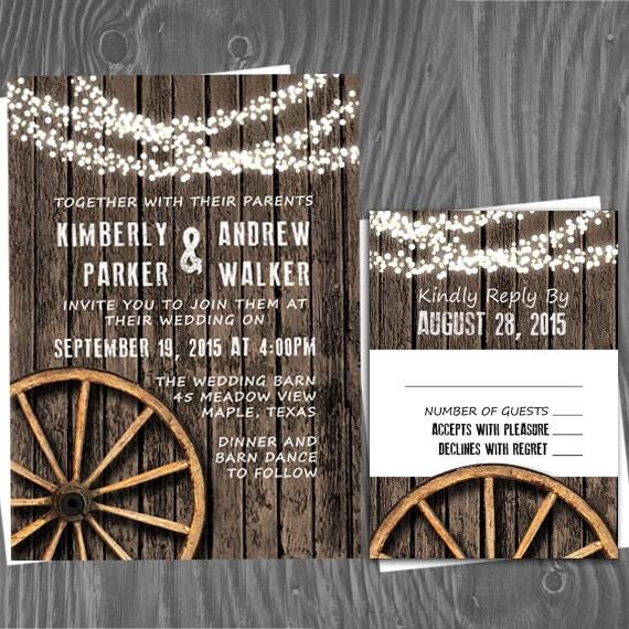 Fall Rustic Country Wedding Barn Woodgrain By PineAndBerryShop