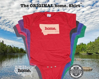 Montana home Baby Bodysuit purple green pink green