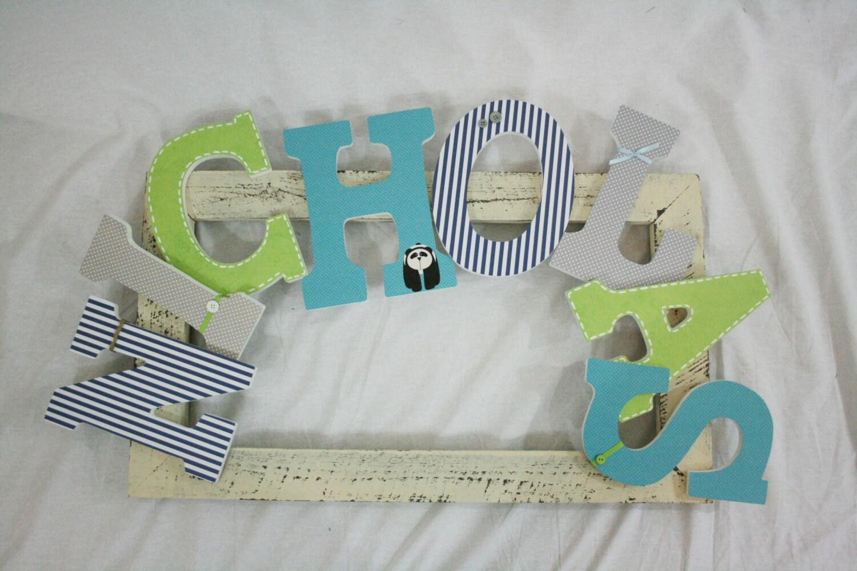 Nursery Wall Letters For Baby Boy In Block Font Custom
