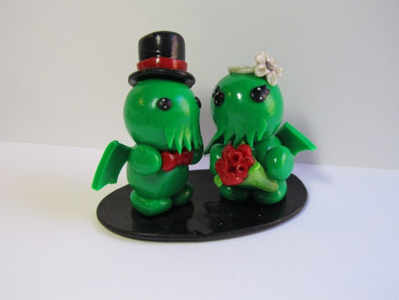 fat wedding cake toppers cthulhu wedding cake topper by dragons 14210