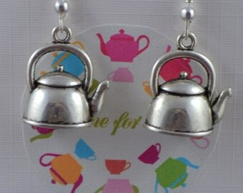 Teapot Kettle Earrings Tea, cook, afternoon tea