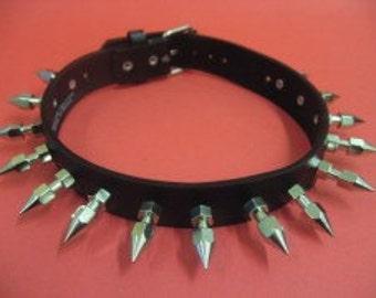 Choker Collar Silver Metal Spike Choker 02