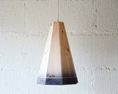 Black Pendant Lamp Shade Handmade in Recycled Pallet Wood, Large