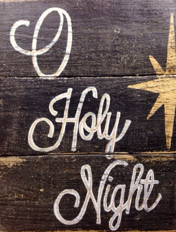 O holy night wood sign christmas decoration rustic christmas for O holy night decorations