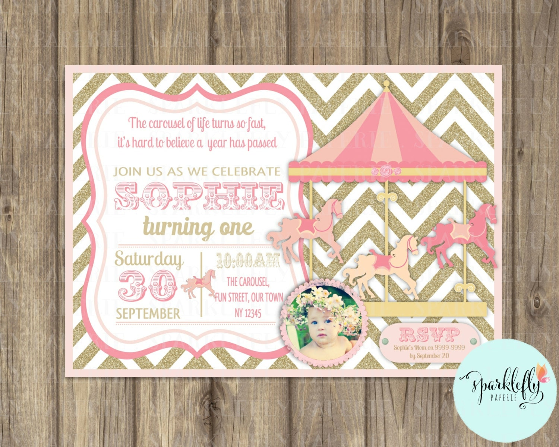 Carousel birthday – Carousel Party Invitations