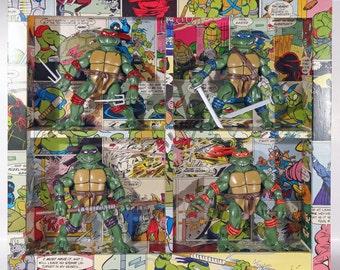 Custom Framed Teenage Mutant Ninja Turtles Figures TMNT