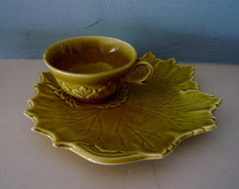 Steubenville Woodfield Tea and Toast Cup and Plate Set in Golden Fawn Color