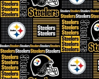 PITTSBURGH STEELERS NFL Cotton Fabric By The Yard Sports Team Football 100% Cotton New