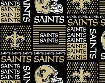 NEW ORLEANS Saints NFL Cotton Fabric By The Yard Sports Team Football 100% Cotton New