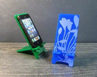 Acrylic Flower Cell Phone Stand 5 Sizes - iPhone 6, iPhone 6 Plus, iPhone 5, 4, Samsung Galaxy S5 S4 Phone Stand Docking Station - 9 Colors