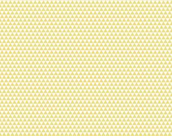 Oh Boy Yellow Triangles by Riley Blake 1 Yard