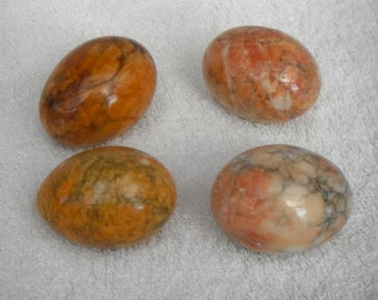 Vintage onyx  Coloured Polished Eggs - decorative - four