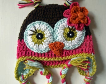 Owl Hat, Girl Owl Hat, Kids Hat, Animal Hat, Children Hats, Girl Hats, Baby Owl Hats, Toddler Hats, Adult Hats, Owl Beanies
