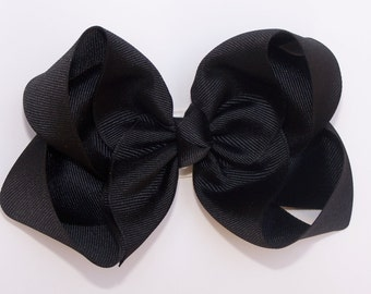 Black Large Boutique Bow Girls Big Hair Bow Girls Bow Jumbo Bow Black Hair Bow