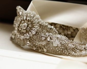 Crystal bridal belts and sashes - Style S50