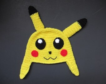 Crocheted Pikachu Hat